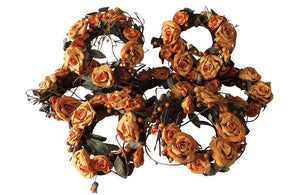 VINTAGE FRENCH FLORISTS WREATHS