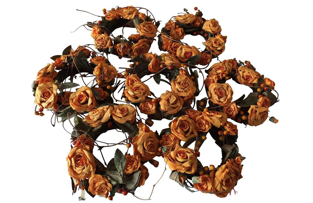 SEVEN VINTAGE FRENCH FLORISTS WREATHS