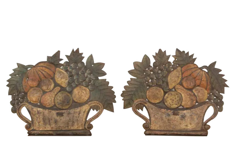 PAIR OF DECORATIVE TOLE DUMMY BOARD LAMPS