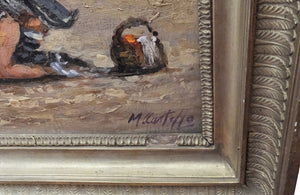 NAUGHTY PAINTING SIGNED M.CASTELLO
