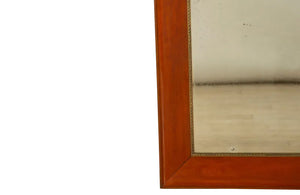 BEAUTIFUL, LARGE,  MAHOGANY FRAMED MIRROR