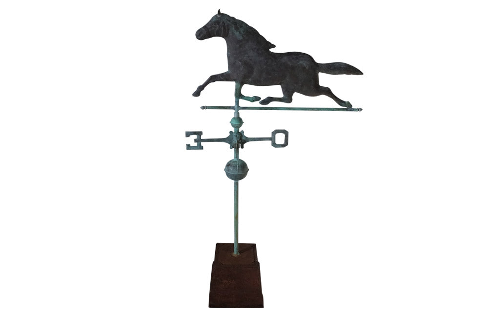 BEAUTIFUL COPPER HORSE WEATHERVANE