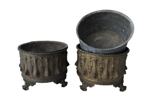 PAIR OF NEO-CLASSICAL REVIVAL CACHE POTS