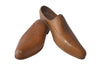 BEAUTIFUL PAIR OF FINELY CARVED TREEN SHOES
