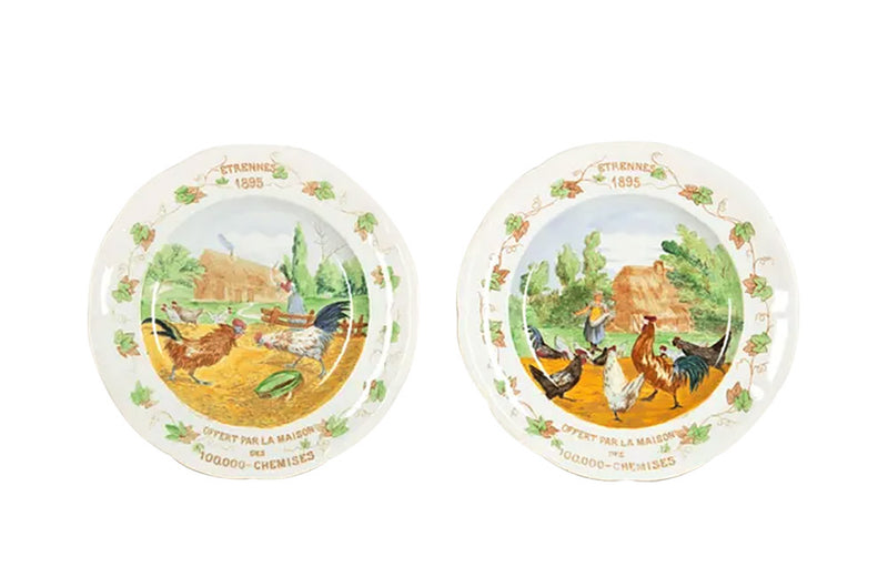 PAIR OF LARGE ADVERTISING PLATES