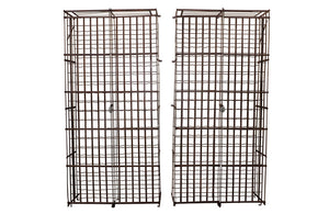 PAIR OF LARGE 19TH CENTURY WINE CAGES