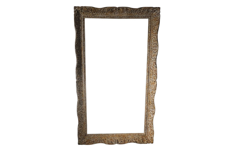LARGE FRENCH CARVED FRAME