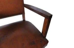 VINTAGE LEATHER DESK CHAIR