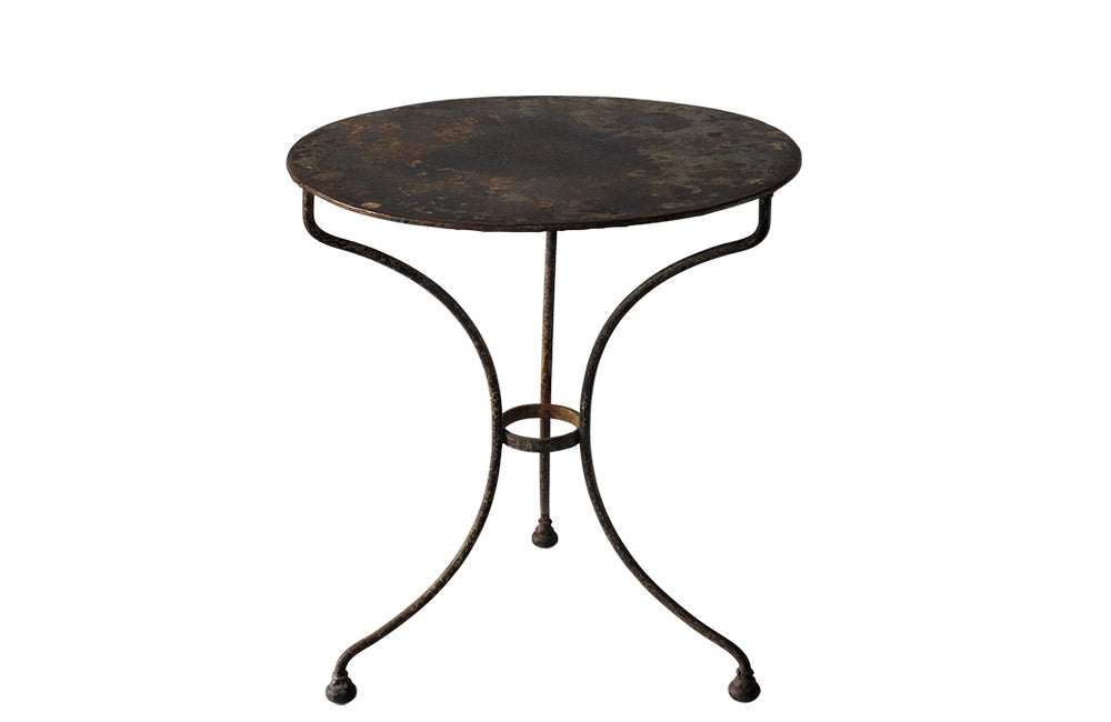 FRENCH IRON GUERIDON TABLE