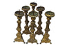 SET OF SIX EARLY 19TH CENTURY PRICKET STICKS