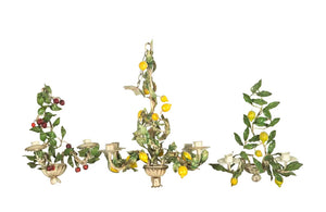 VINTAGE ITALIAN CHANDELIER AND APPLIQUES SET