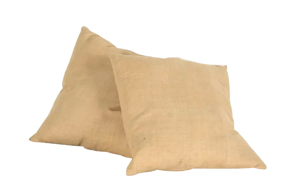 PAIR OF ANTIQUE HEMP CUSHIONS
