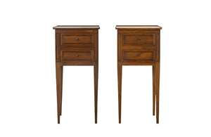 PAIR OF LOUIS XVI REVIVAL SIDE TABLES