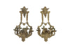 PAIR OF LARGE 19TH CENTURY BRONZE APPLIQUES