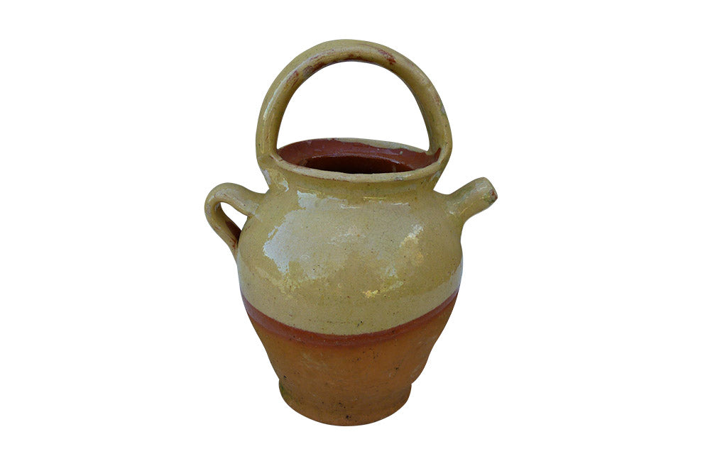 GLAZED FRENCH POTTERY CRUCHE