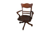 OAK ADJUSTABLE SWIVEL DESK CHAIR