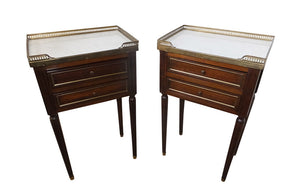 PAIR OF LOUIS XVI REVIVAL NIGHTSTANDS