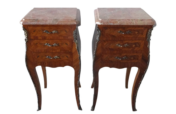 PAIR OF FRENCH MARQUETRY NIGHTSTANDS