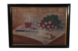 STILL LIFE WITH RADISHES AND WINE