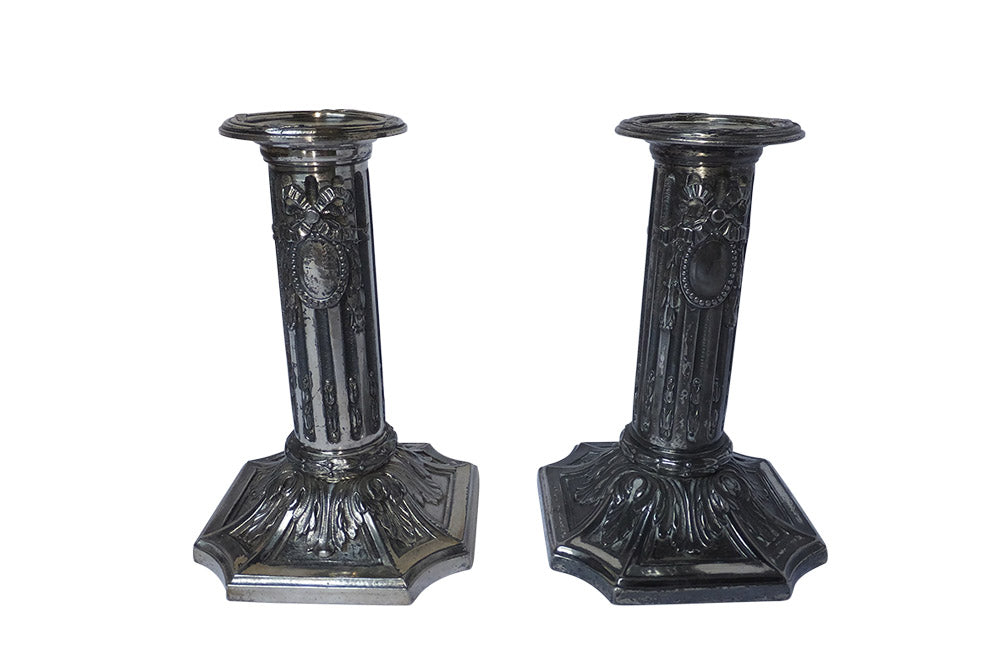 PAIR OF NE0-CLASSICAL REVIVAL CANDLESTICKS
