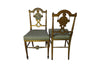 PAIR OF CHARMING NEO-CLASSICAL REVIVAL SIDE CHAIRS