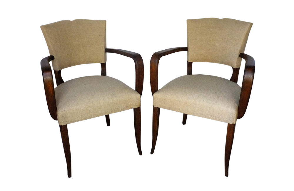 PAIR OF MOUSTACHE BACK BRIDGE CHAIRS