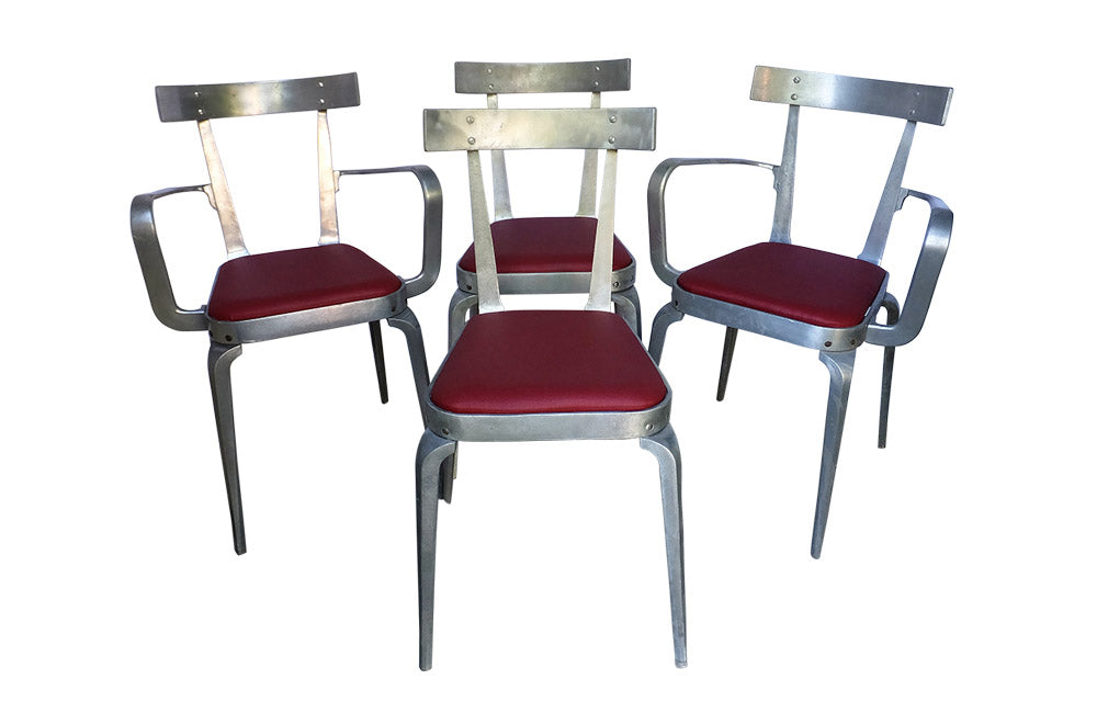 SET OF FOUR VINTAGE CHAIRS BY JOS