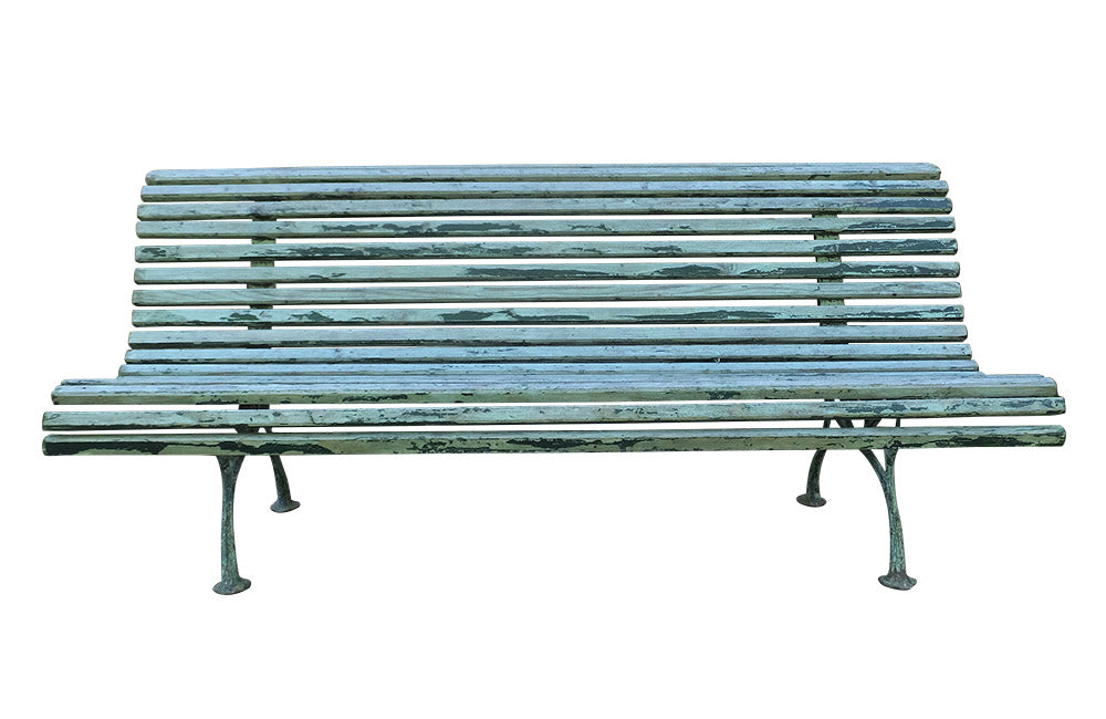 LARGE FRENCH GARDEN BENCH-CURRENTLY RESERVED-