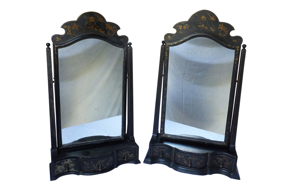PAIR OF 19TH CENTURY ENGLISH TABLE MIRRORS