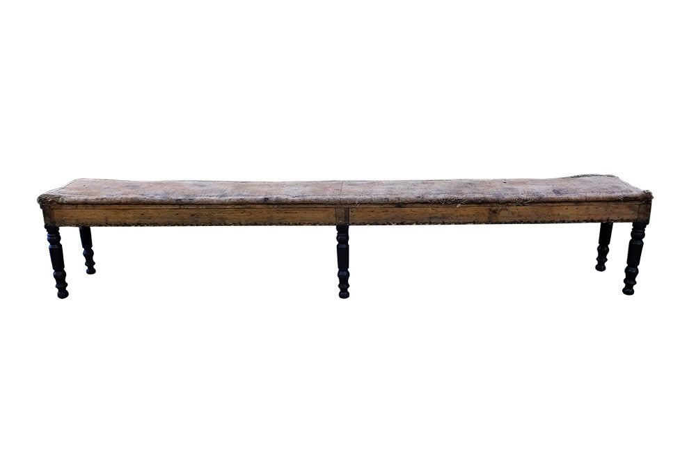 LONG 19TH CENTURY BISTRO BENCH