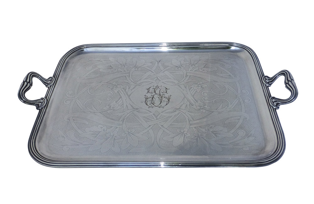 CHRISTOFLE ART NOUVEAU TRAY