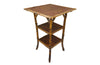 BAMBOO & LEATHER OCCASIONAL  TABLE