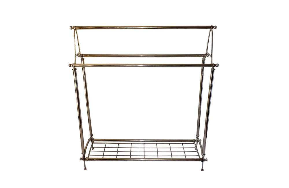 ART NOUVEAU STYLE TOWEL RAIL & SHELF - AD & PS ANTIQUES