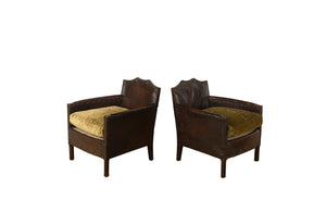 PAIR OF PETITE CLUB CHAIRS