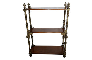 SMALL NEO-GOTHIC REVIVAL SHELVES