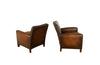 PAIR OF 1950'S LEATHER CLUB CHAIRS