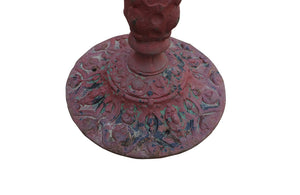 FRENCH CAST IRON GUERIDON WITH DRAGON MOTIFS