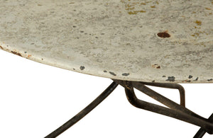 LARGE FOLDING IRON GARDEN TABLE