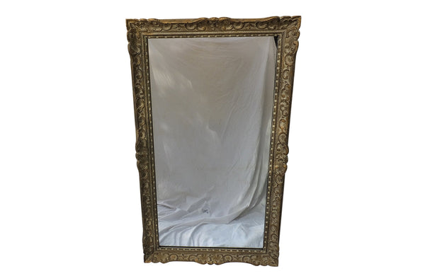 LARGE CARVED FRAMED FRENCH MIRROR