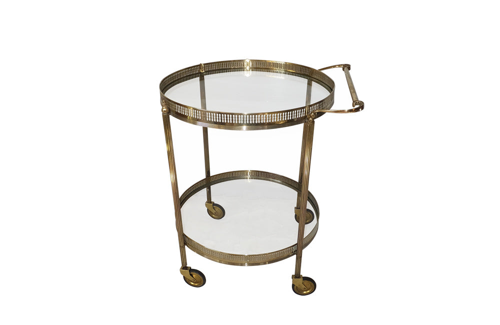 ROUND VINTAGE COCKTAIL TROLLEY
