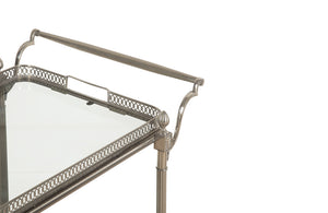 STYLISH NICKEL PLATE COCKTAIL TROLLEY