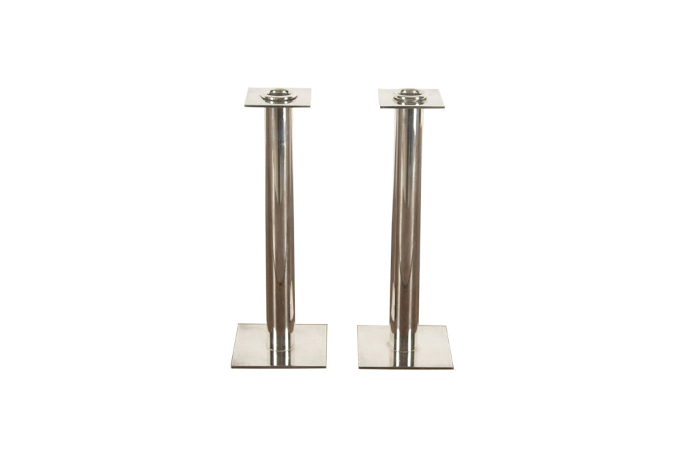 PAIR OF CHIC 1970'S CANDLESTICKS