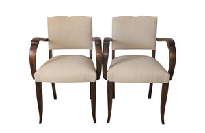 PAIR OF 1930'S BRIDGE CHAIRS