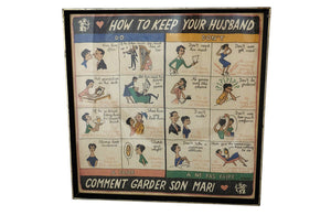 FRAMED 'HOW TO KEEP YOUR HUSBAND'