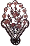 LARGE FLORAL BEADWORK WALL DECORATION