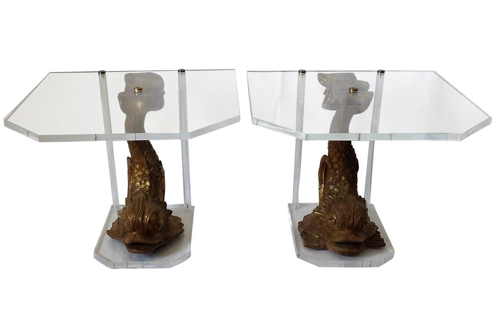 DOLPHIN SIDE TABLES