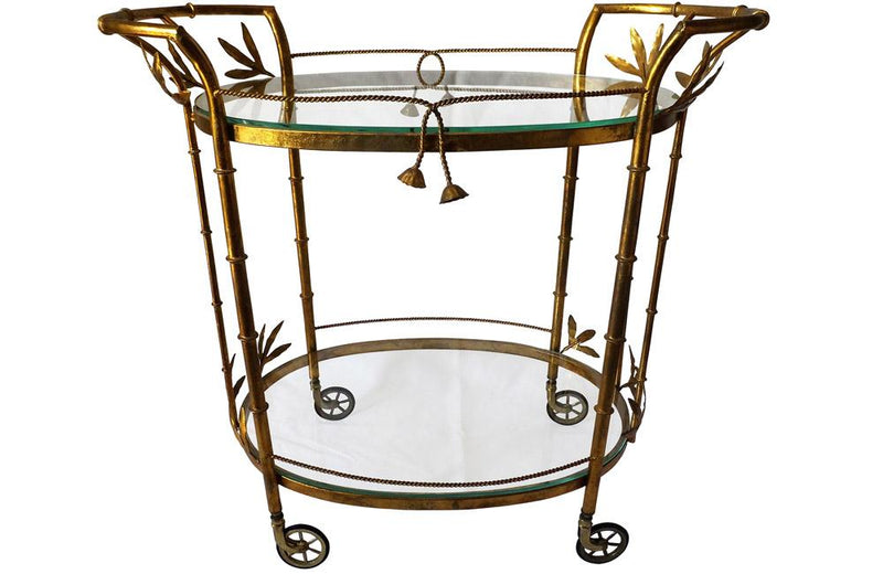 HOLLYWOOD REGENCY COCKTAIL TROLLEY