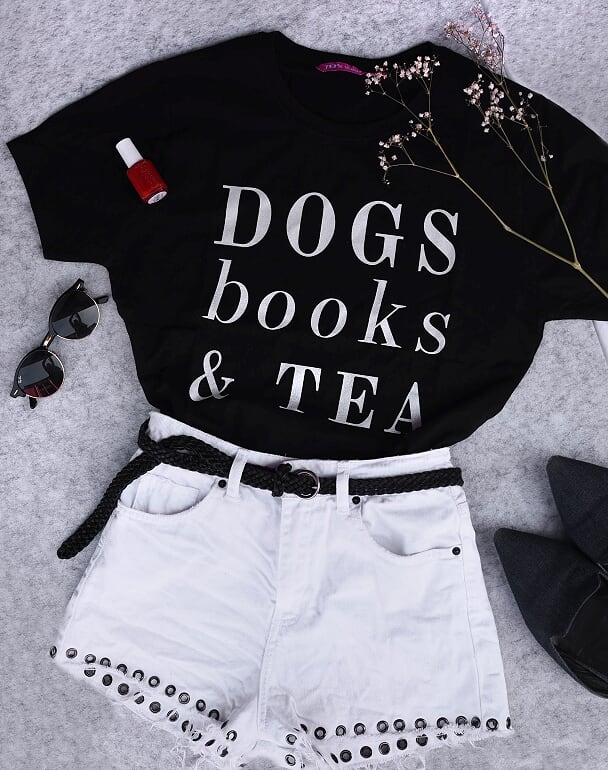 Dogs Tea Shirt - Black