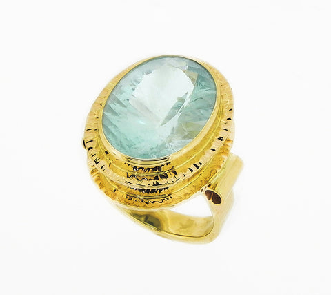 Natural Color Aqua Ring
