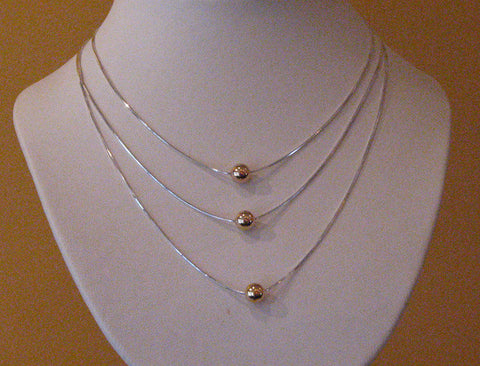 14k Single Ball Necklace